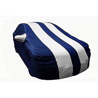 Benjoy Arc Blue Stylish Silver Stripe Car Body Cover For Maruti Suzuki Celerio