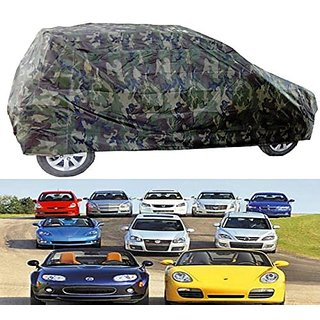 Benjoy Car Body Cover Miltery Print For TATA Indica