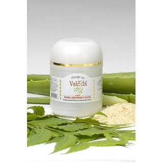 Valeda Herbal Neem Beauty Grains with Yeast and Enzymes - For Post Acne Scars and Cleansing of Dead Skin Cells- Dermatologists Secret (30 g)