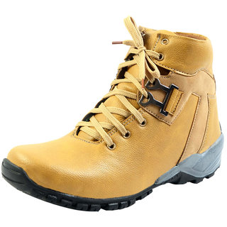 00RA MEN'S Casual Shoes Light Tan Color Boots Shoe For Men