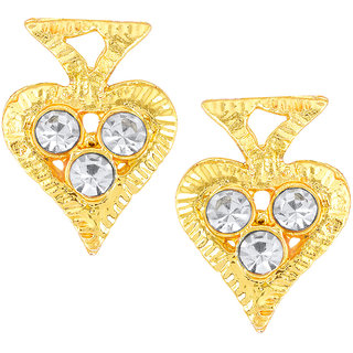 Shostopper Gold Plated Gold Alloy Studs for Women's