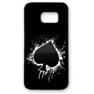 Samsung Galaxy S7 Edge Designer Hard-Plastic Phone Cover from Print Opera - Black Spade Of Cards