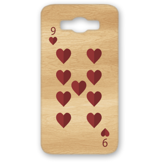Samsung Galaxy J7 Designer Hard-Plastic Phone Cover from Print Opera - 9 Of Heart