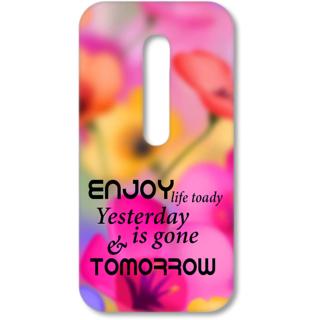 Moto G3 Designer Hard-Plastic Phone Cover from Print Opera - Enjoy Life