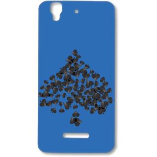 Micromax Yureka Designer Hard-Plastic Phone Cover from Print Opera - Spade