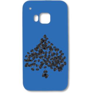 HTC one M9 Designer Hard-Plastic Phone Cover from Print Opera - Spade