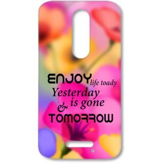 Moto X Force Designer Hard-Plastic Phone Cover from Print Opera - Enjoy Life