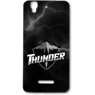 Micromax Yureka Designer Hard-Plastic Phone Cover from Print Opera - Thunder