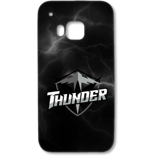 HTC one M9 Designer Hard-Plastic Phone Cover from Print Opera - Thunder