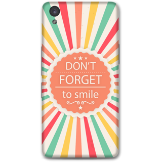 One Plus X Designer Hard-Plastic Phone Cover from Print Opera - Don't Forget To Smile