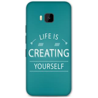 HTC one M9 Designer Hard-Plastic Phone Cover from Print Opera - Life