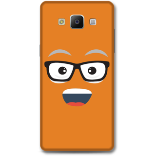 Samsung Galaxy A5 2014 Designer Hard-Plastic Phone Cover from Print Opera - Nerdy Face
