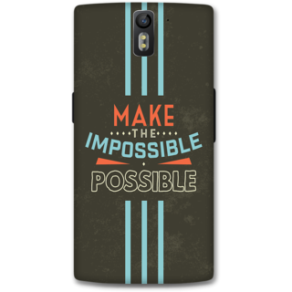 One Plus One Designer Hard-Plastic Phone Cover from Print Opera - Make The Possible
