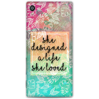 Sony Xperia Z5 Premium Designer Hard-Plastic Phone Cover from Print Opera - She Designed A Life