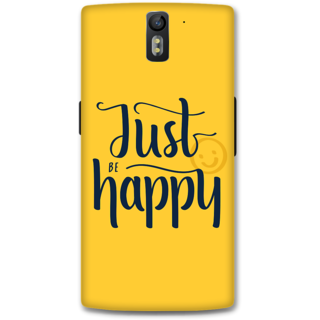 One Plus One Designer Hard-Plastic Phone Cover from Print Opera - Just Be Happy