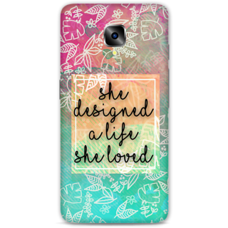 One Plus Three Designer Hard-Plastic Phone Cover from Print Opera - She Designed A Life