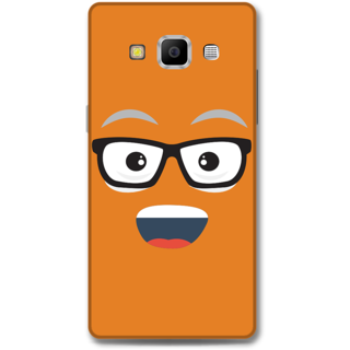 Samsung Galaxy A7 2015 Designer Hard-Plastic Phone Cover from Print Opera - Nerdy Face