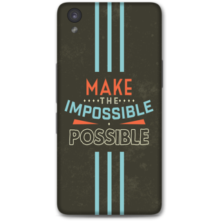 One Plus X Designer Hard-Plastic Phone Cover from Print Opera - Make The Possible