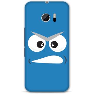Htc 10 Designer Hard-Plastic Phone Cover from Print Opera - Grumpy Face