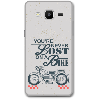 Samsung Galaxy On5 Designer Hard-Plastic Phone Cover from Print Opera - Never Lost On a Bike