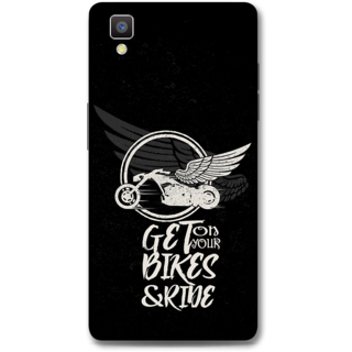 Oppo F1 Designer Hard-Plastic Phone Cover from Print Opera - Get On Your Bikes