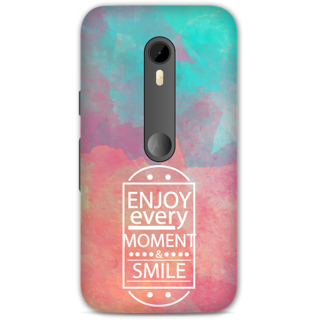 Moto G3 Designer Hard-Plastic Phone Cover from Print Opera - Enjoy Every Moment