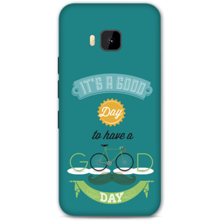 HTC one M9 Designer Hard-Plastic Phone Cover from Print Opera - Good Day