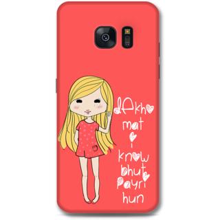 Samsung Galaxy S7 Edge Designer Hard-Plastic Phone Cover from Print Opera - Cute Girl