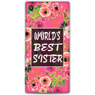 Sony Xperia Z5 Premium Designer Hard-Plastic Phone Cover from Print Opera - World Best Sister