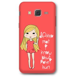 Samsung Galaxy J5 2015 Designer Hard-Plastic Phone Cover from Print Opera - Cute Girl