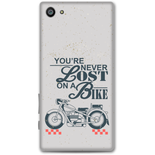 Sony Xperia Z5 Compact Designer Hard-Plastic Phone Cover from Print Opera - Never Lost On a Bike