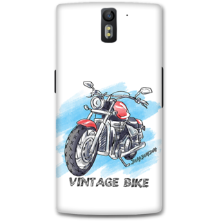 One Plus One Designer Hard-Plastic Phone Cover from Print Opera - Vintage Bike
