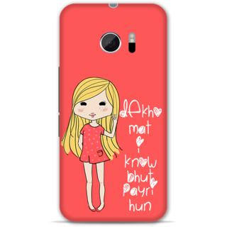 Htc 10 Designer Hard-Plastic Phone Cover from Print Opera - Cute Girl