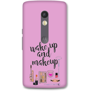 Moto X Play Designer Hard-Plastic Phone Cover from Print Opera - Wake Up And Makeup