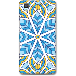 Oppo F1 Designer Hard-Plastic Phone Cover from Print Opera - Colored Pattern
