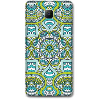 Samsung Galaxy A5 2014 Designer Hard-Plastic Phone Cover from Print Opera -Graphic blue green print