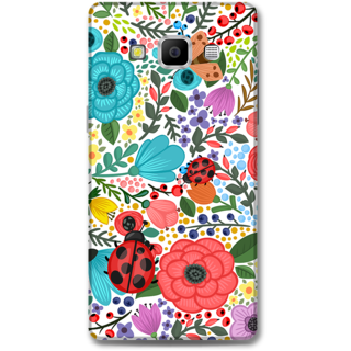 Samsung Galaxy A7 2015 Designer Hard-Plastic Phone Cover from Print Opera - Colored Flowers
