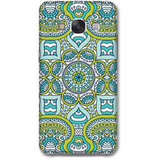 Samsung Galaxy E7 Designer Hard-Plastic Phone Cover from Print Opera -Graphic blue green print