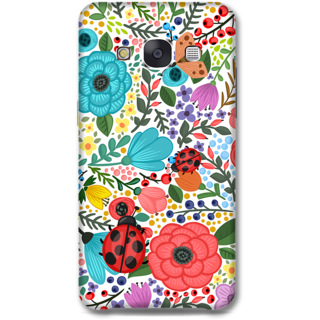 Samsung Galaxy E7 Designer Hard-Plastic Phone Cover from Print Opera - Colored Flowers