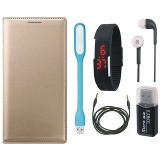 Lenovo K5 Cover with Memory Card Reader, Digital Watch, Earphones, USB LED Light and AUX Cable