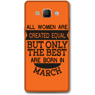 Samsung Galaxy A5 2014 Designer Hard-Plastic Phone Cover from Print Opera -March born for women in orange