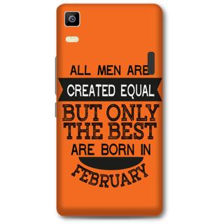 Lenovo K3 Note Designer Hard-Plastic Phone Cover from Print Opera -Feb born for men in orange