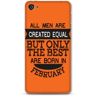 IPhone 4-4s Designer Hard-Plastic Phone Cover from Print Opera -Feb born for men in orange