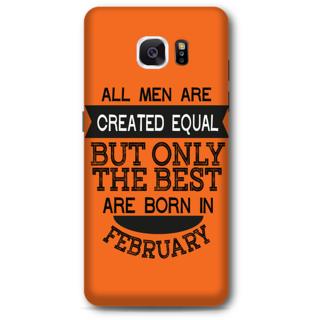 Samsung Galaxy Note 5 Designer Hard-Plastic Phone Cover from Print Opera -Feb born for men in orange