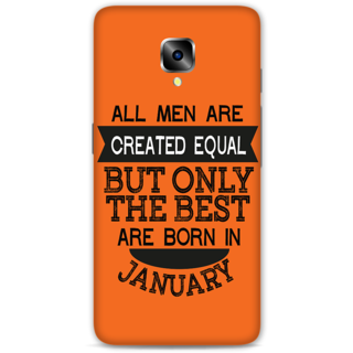One Plus Three Designer Hard-Plastic Phone Cover from Print Opera -January born
