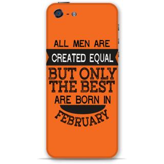 IPhone 5-5s Designer Hard-Plastic Phone Cover from Print Opera -Feb born for men in orange