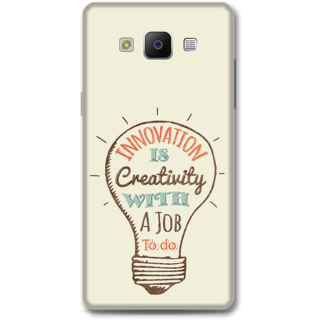 Samsung Galaxy A5 2014 Designer Hard-Plastic Phone Cover from Print Opera -Innovation is creativity with a job to do
