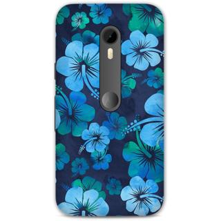 Moto G3 Designer Hard-Plastic Phone Cover from Print Opera -Blue flowers