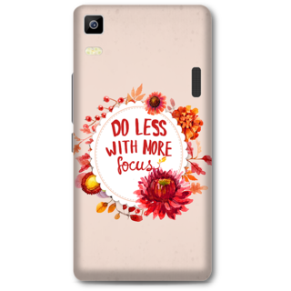 Lenovo K3 Note Designer Hard-Plastic Phone Cover from Print Opera - Do Less With More Focus