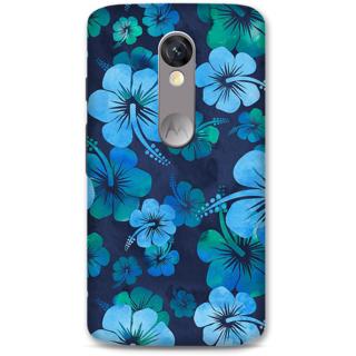 Moto X Force Designer Hard-Plastic Phone Cover from Print Opera -Blue flowers